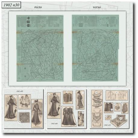 Patrons de La Mode Illustrée 1902 N°30