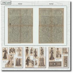 Patrons de La Mode Illustrée 1902 N°44