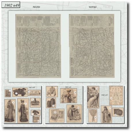 Edwardian sewing patterns La Mode Illustrée 1902 N°49