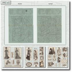 Patrons de La Mode Illustrée 1902 N°32