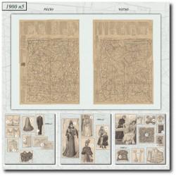 Sewing patterns La Mode Illustrée 1900 N°5