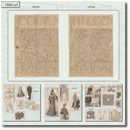 Patrons de La Mode Illustrée 1900 N°5