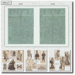 Patrons de La Mode Illustrée 1900 N°27