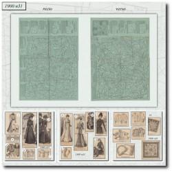 Patrons de La Mode Illustrée 1900 N°31