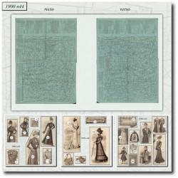 Patrons de La Mode Illustrée 1900 N°44