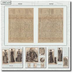 Sewing patterns La Mode Illustrée 1892 N°10