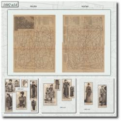 Patrons de La Mode Illustrée 1892 N°14