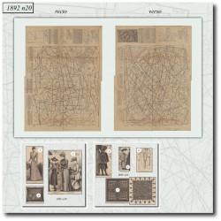 Patrons de La Mode Illustrée 1892 N°20