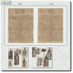 Patrons de La Mode Illustrée 1892 N°25
