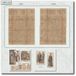 Sewing patterns La Mode Illustrée 1892 N°31