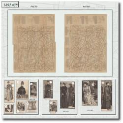 Sewing patterns La Mode Illustrée 1892 N°38