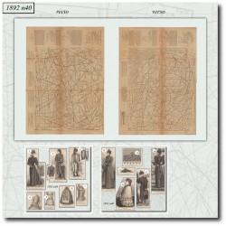 Patrons de La Mode Illustrée 1892 N°40