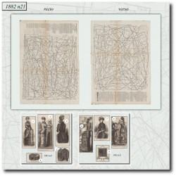 Patrons de La Mode Illustrée 1882 N°21