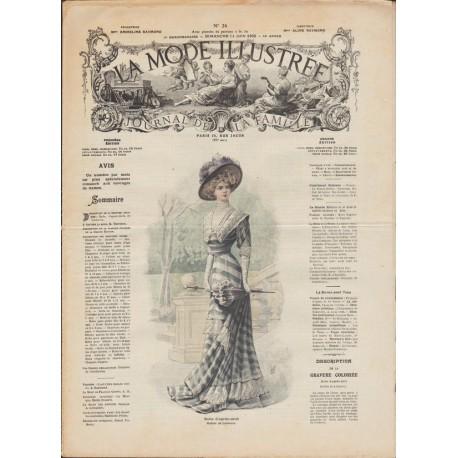 Complete magazine La Mode Illustrée 1908 N°24