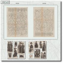 Patrons de La Mode Illustrée 1882 N°23
