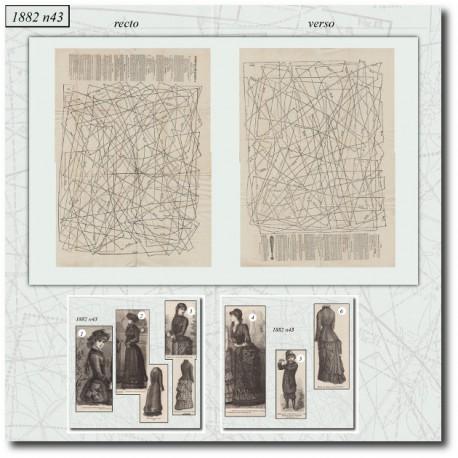 Patrons de La Mode Illustrée 1882 N°43