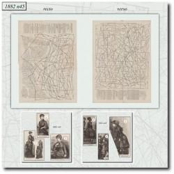 Sewing patterns La Mode Illustrée 1882 N°45