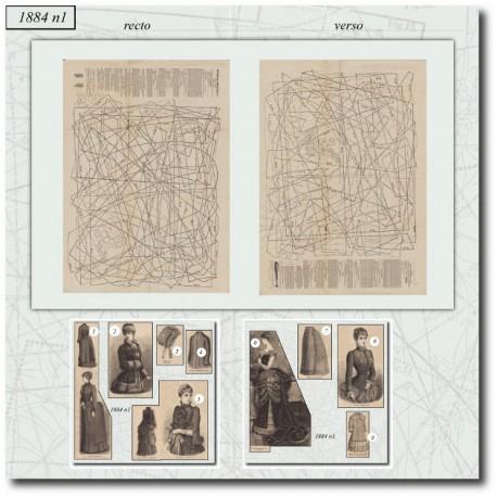 Patrons de La Mode Illustrée 1884 N°1