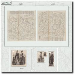 Patrons de La Mode Illustrée 1884 N°14