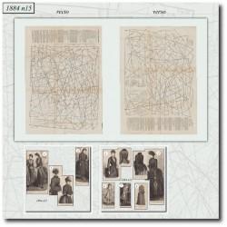 Sewing patterns La Mode Illustrée 1884 N°15