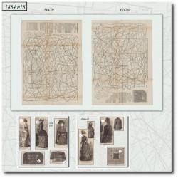 Sewing patterns La Mode Illustrée 1884 N°18