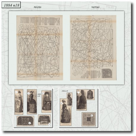 Patrons de La Mode Illustrée 1884 N°18
