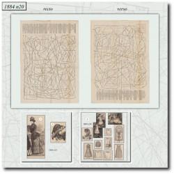Patrons de La Mode Illustrée 1884 N°20