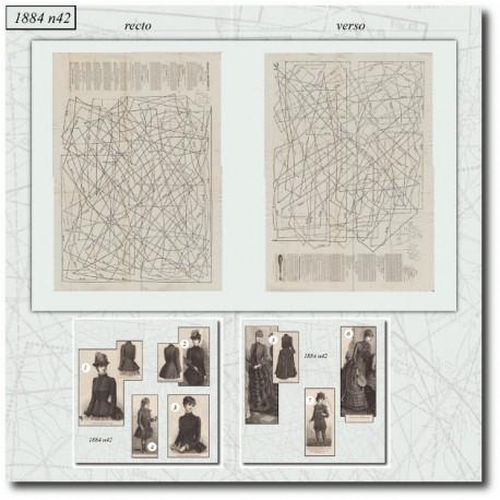 Sewing patterns La Mode Illustrée 1884 N°42
