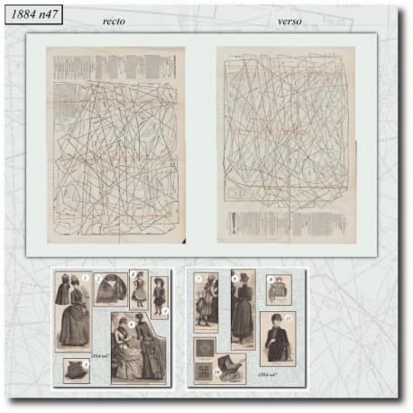 Patrons de La Mode Illustrée 1884 N°47