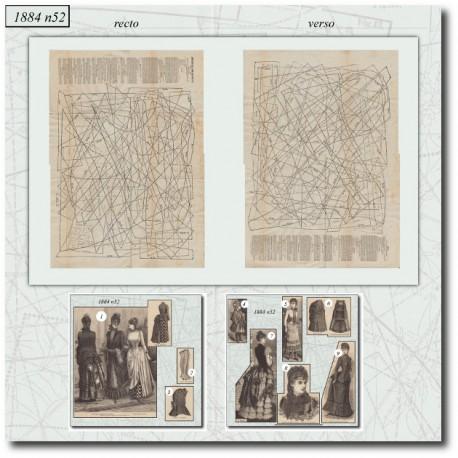 Patrons de La Mode Illustrée 1884 N°52
