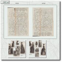 Patrons de La Mode Illustrée 1885 N°04