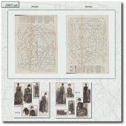 Patrons de La Mode Illustrée 1885 N°06