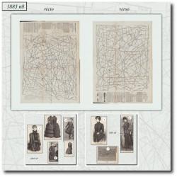 Patrons de La Mode Illustrée 1885 N°08