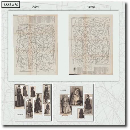Sewing patterns Mode Illustrée 1885 10