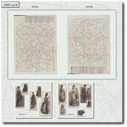 Patrons de La Mode Illustrée 1885 N°14
