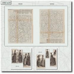 Patrons de La Mode Illustrée 1885 N°18
