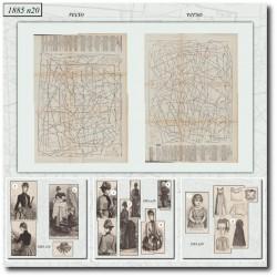 Patrons de La Mode Illustrée 1885 N°20