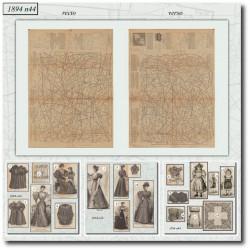 Patrons de La Mode Illustrée 1894 N°44