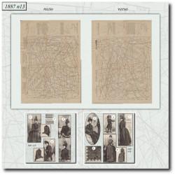 Sewing patterns La Mode Illustrée 1887 N°13