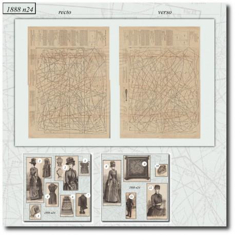 Patrons de La Mode Illustrée 1888 N°24