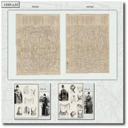 Patrons de La Mode Illustrée 1888 N°30