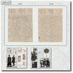 Patrons de La Mode Illustrée 1888 N°32
