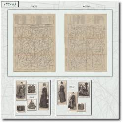 Patrons de La Mode Illustrée 1889 N°03