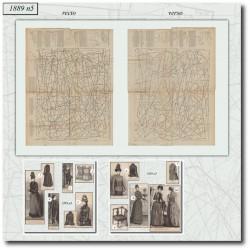 Patrons de La Mode Illustrée 1889 N°05