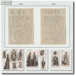 Patrons de La Mode Illustrée 1889 N°10