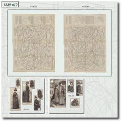 Patrons de La Mode Illustrée 1889 N°12
