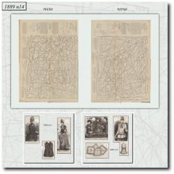 Sewing patterns La Mode Illustrée 1889 N°14