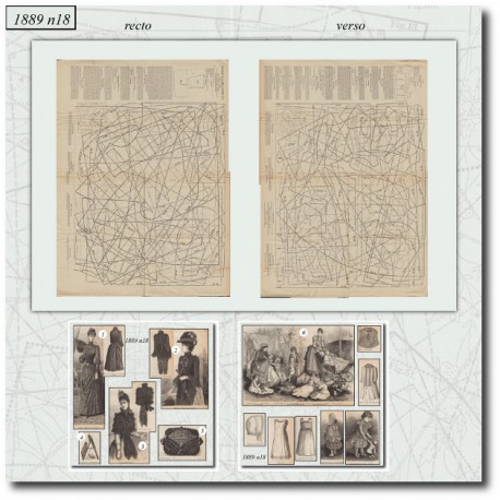 Patrons de La Mode Illustrée 1889 N°18
