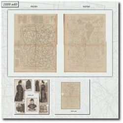 Patrons de La Mode Illustrée 1889 N°40