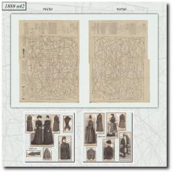 Patrons de La Mode Illustrée 1889 N°42